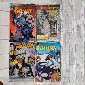 Vintage DC Comics Batman Robin Set of 4
